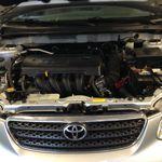 Toyota engine compartment